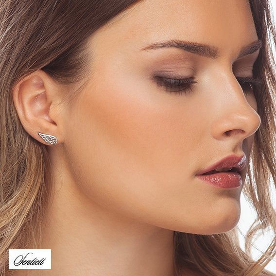 Silver (925) earrings - wings