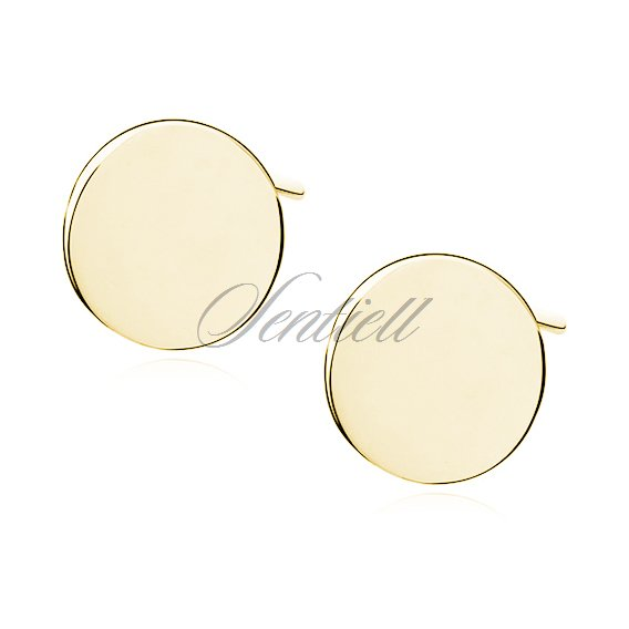 Silver (925) earrings with gold-plated circles