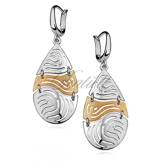 Silver (925) earrings with gold-plated element