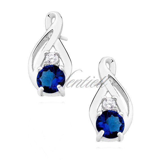Silver (925) earrings with sapphire zirconia