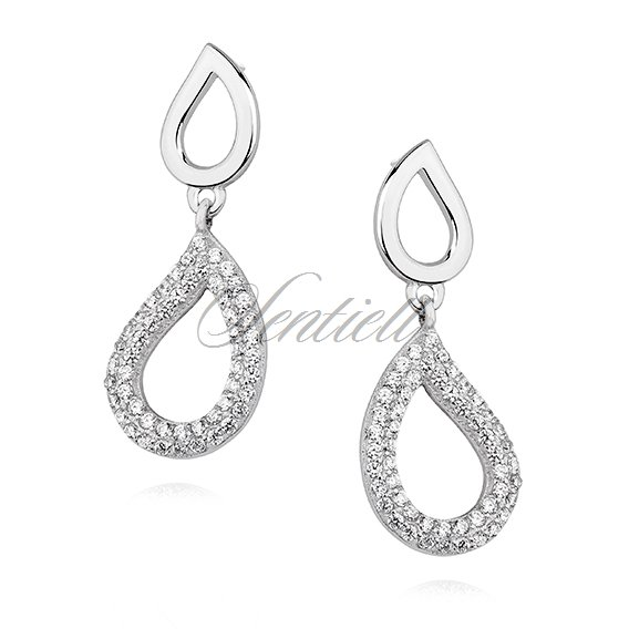 Silver (925) earrings with zirconia