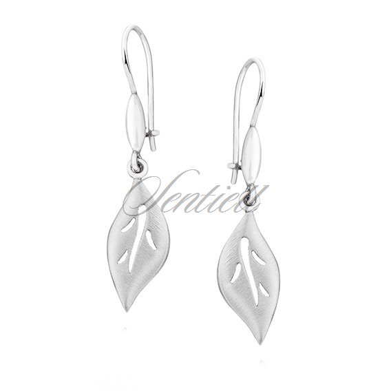 Silver (925) elegant earrings - leafs