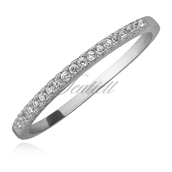 Silver (925) fine ring with zirconia