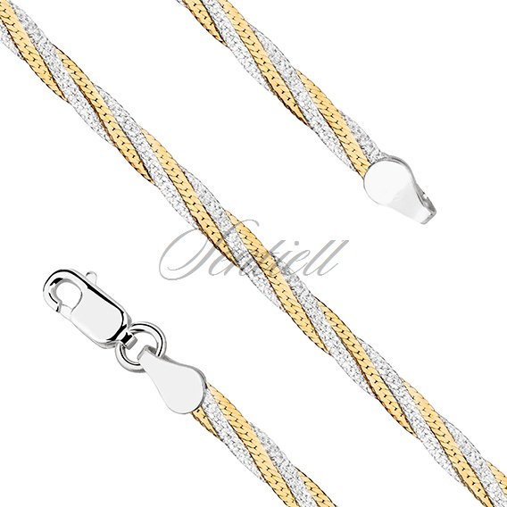 Silver (925) flat chain necklace