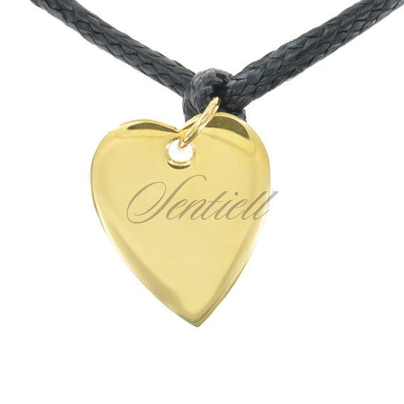 Silver (925) flat charm for bracelets  - gold plated heart