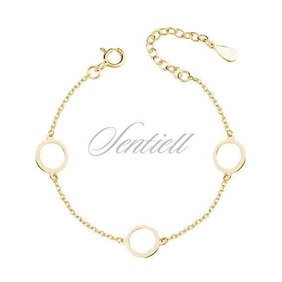Silver (925) gold-plated bracelet  - three circles