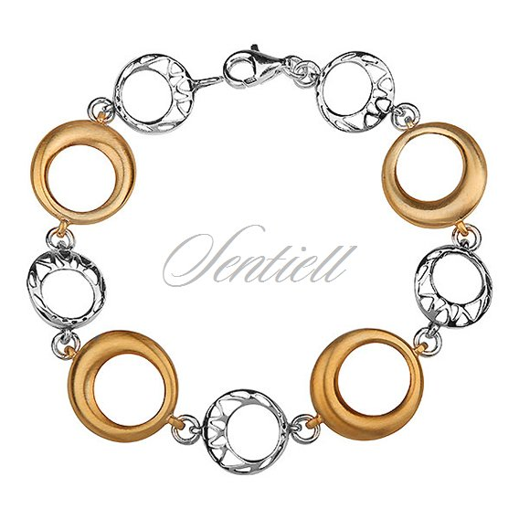 Silver (925) gold-plated bracelet with satine