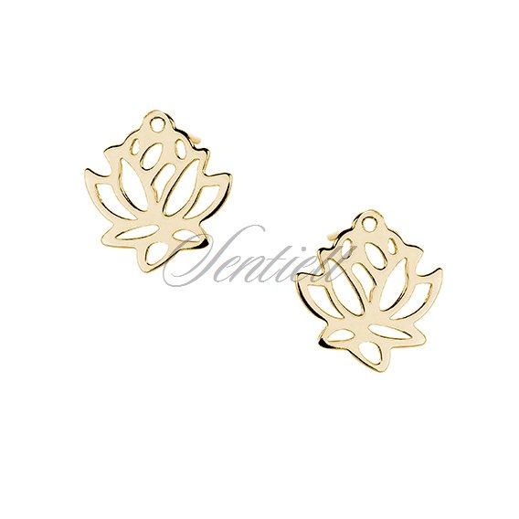 Silver (925) gold-plated earrings lotus flower