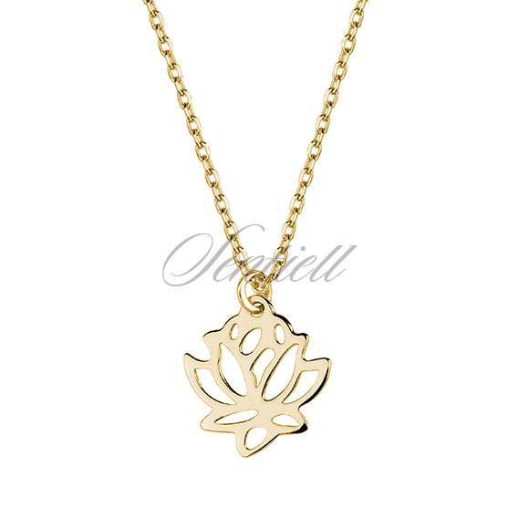 Silver (925) gold-plated necklace lotus flower