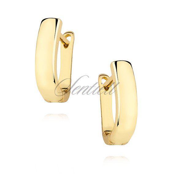 Silver (925) high polished earrings - gold-plated