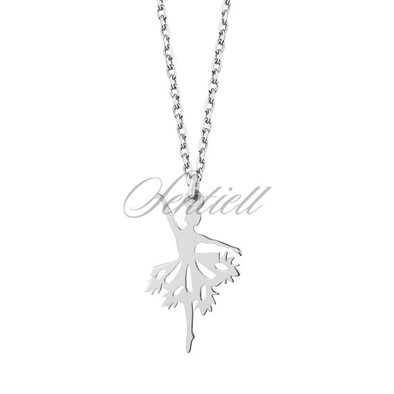Silver (925) necklace - ballerina