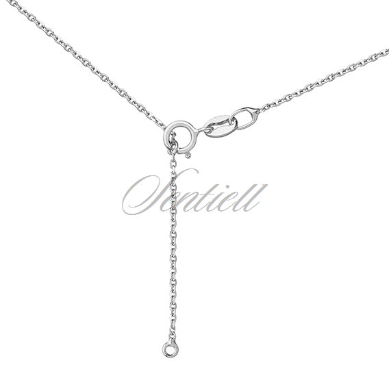 Silver (925) necklace - circle with openwork flower