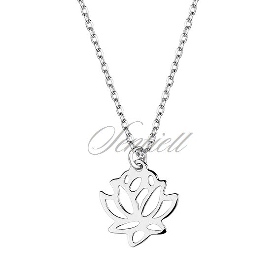 Silver (925) necklace lotus flower
