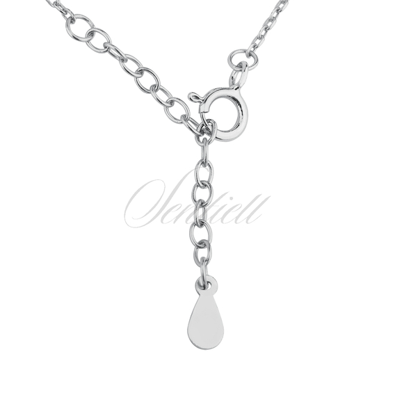 Silver (925) necklace of celebrities with circles & zirconia