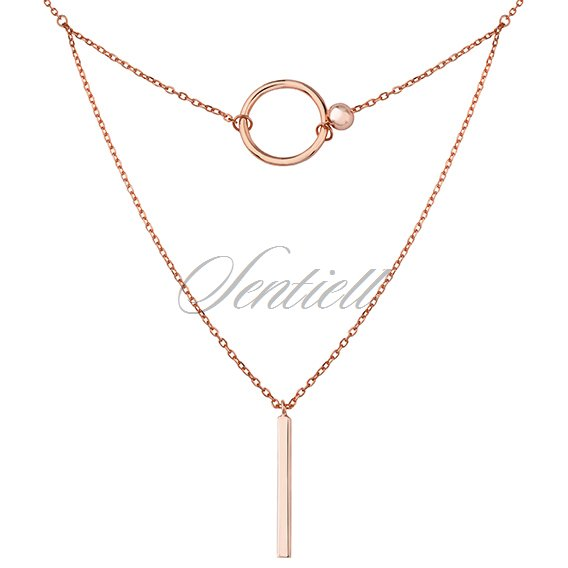 Silver (925) necklace, rose gold-plated
