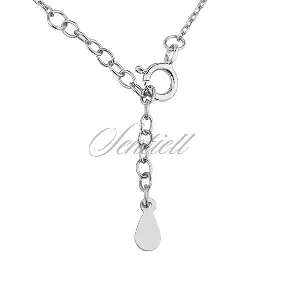 Silver(925) necklace  - triangle with zirconia