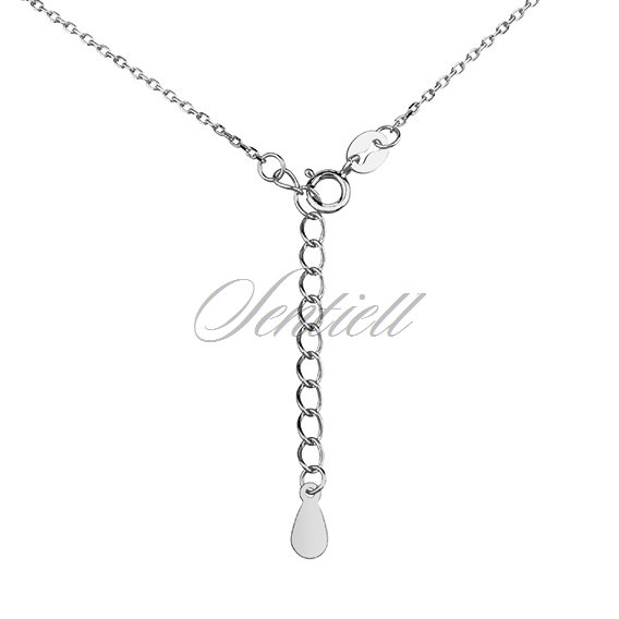 Silver (925) necklace - wings with zirconia