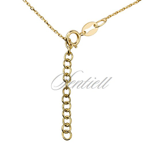 "Silver (925) necklace with ""V"" pendant and zirconia"