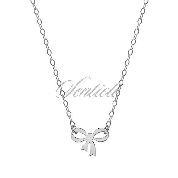 Silver (925) necklace with bow