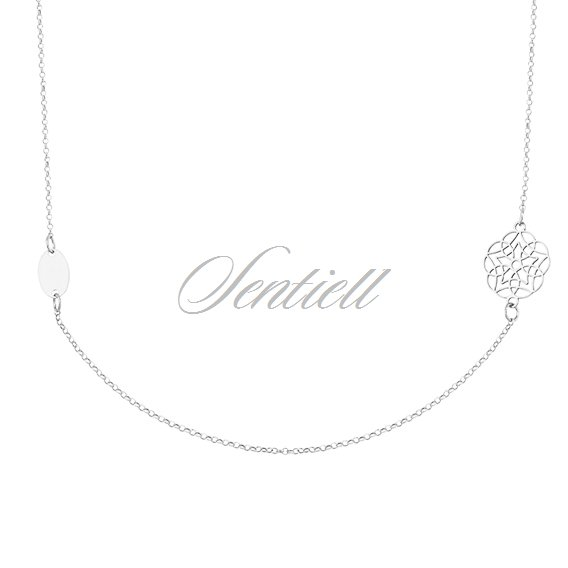 Silver (925) necklace with folower