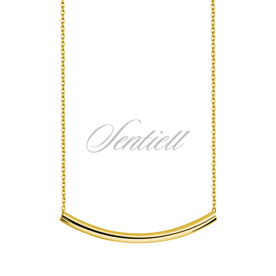 Silver (925) necklace with gold-plated silver tube