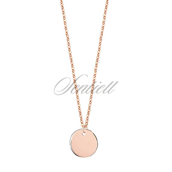 Silver (925) necklace with rose gold-plated circle