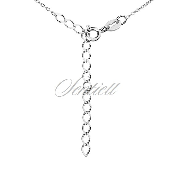 Silver (925) necklace with round pendant