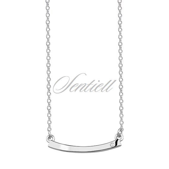 Silver (925) necklace with subtle zirconia