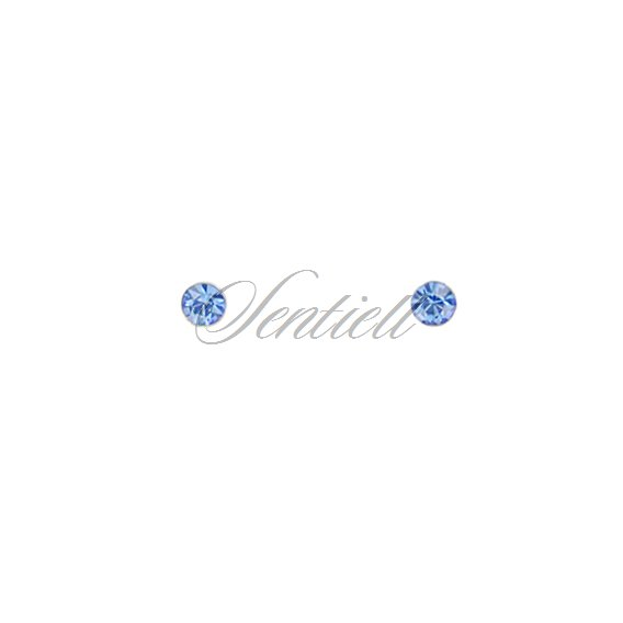 Silver (925) nose stud earrings with zirconia in a box - varied colours