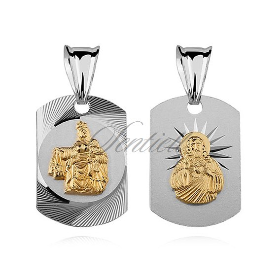 Silver (925) pendant Jesus Christ / Scapular Mary
