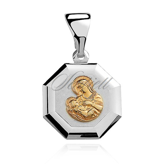 Silver (925) pendant - Saint Mary gold-plated