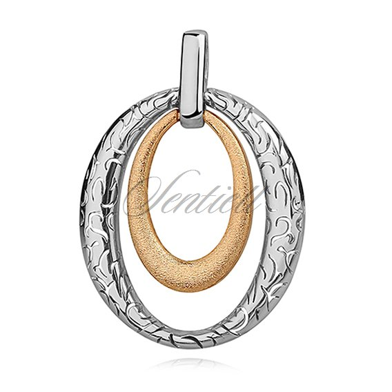Silver (925) pendant with gold-plated element and pattern