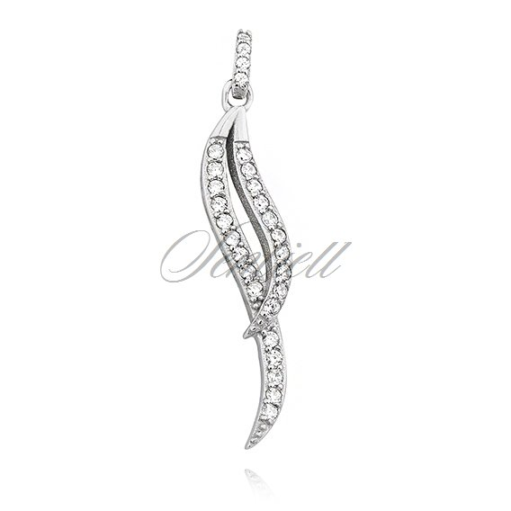 Silver (925) pendant with zirconia