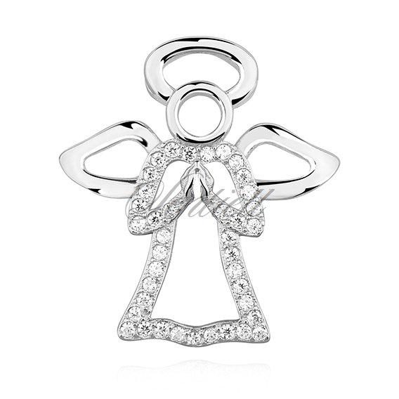 Silver (925) pendant with zirconia - angel