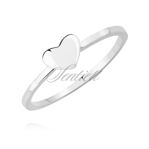 Silver (925) ring with heart