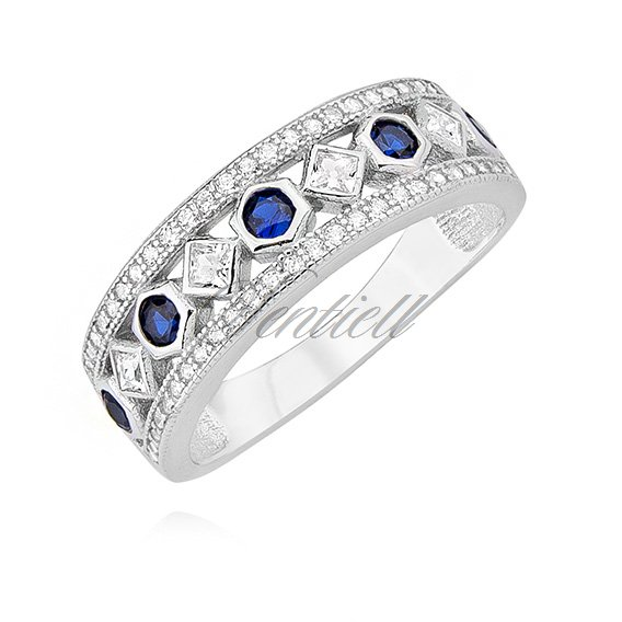 Silver (925) ring with sapphire zirconia