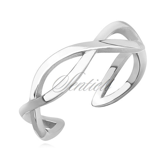 Silver (925) subtle, braid ring