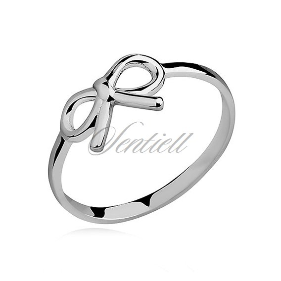 Silver (925) subtle ring - bow