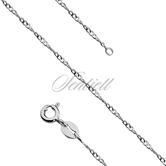 Silver (925) twisted flat curb chain