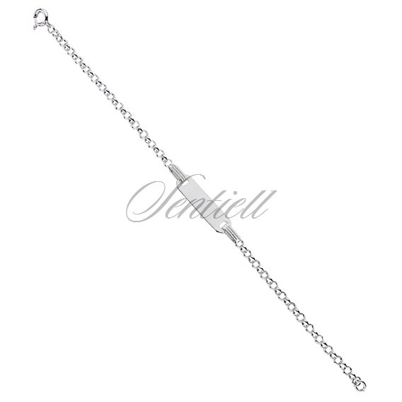 Silver bracelet rolo chain(925) with ID tag