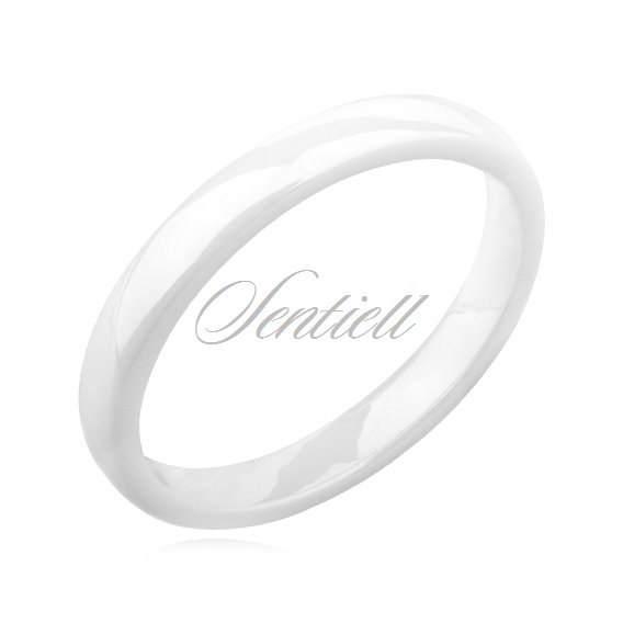 White ceramic ring 3mm