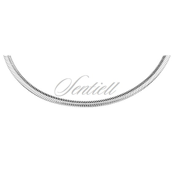 Silver (925) SNAKE FLAT necklace