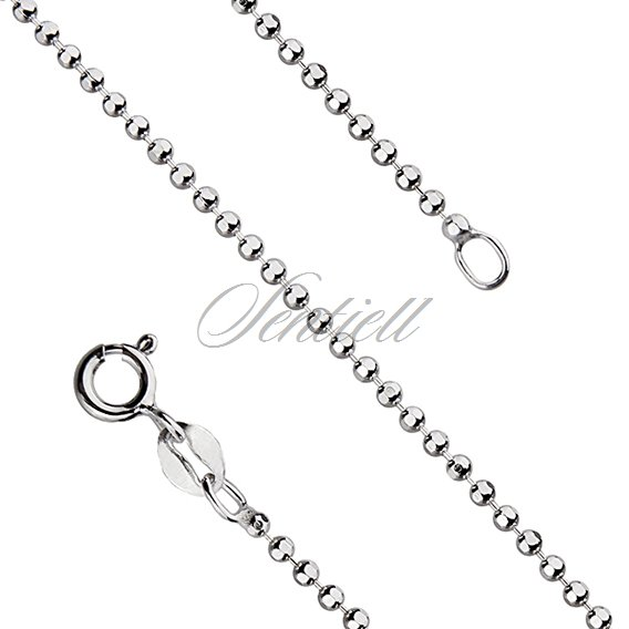 Silver (925) ball chain necklace for military tags