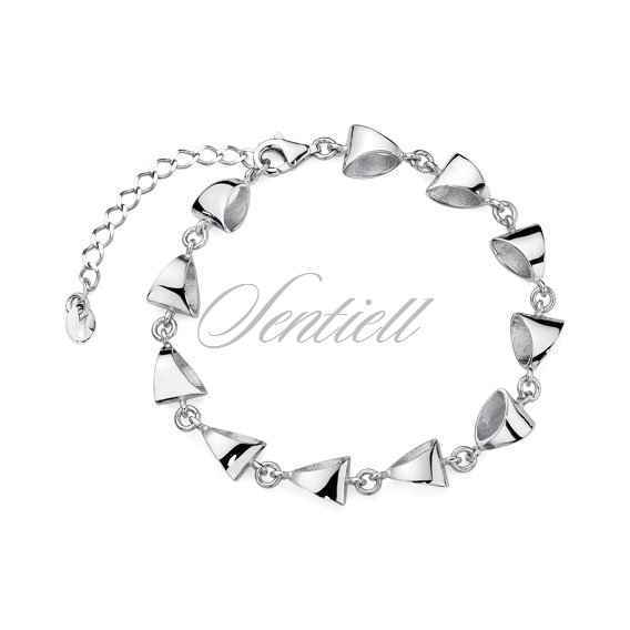 Silver (925) bracelet dimensional triangles