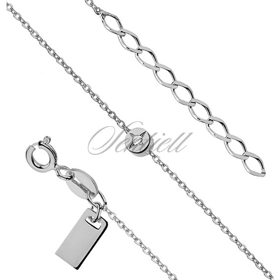 Silver (925) bracelet of celebrities with circle, zirconia and the metal tag