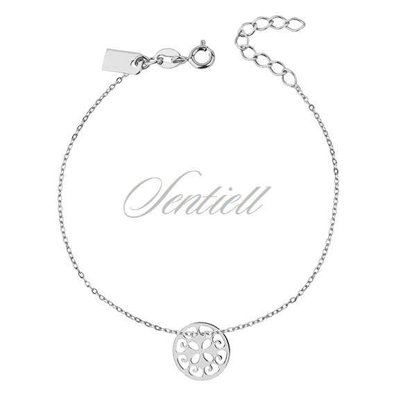 Silver (925) bracelet of celebrities with open-work circle