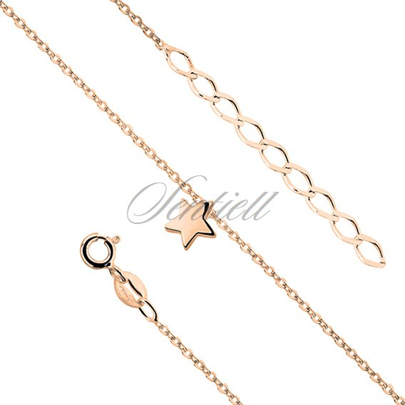 Silver (925) bracelet with star, gold-plated
