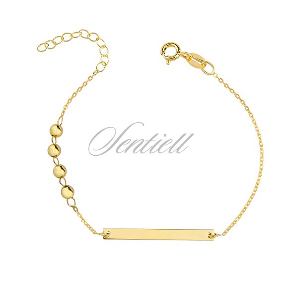 Silver (925) bracelet with tag, gold-plated