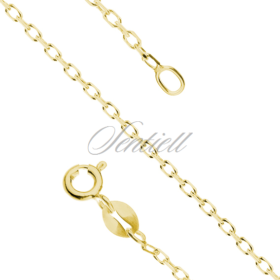 Silver (925) chain Rolo diamond cut, gold-plated