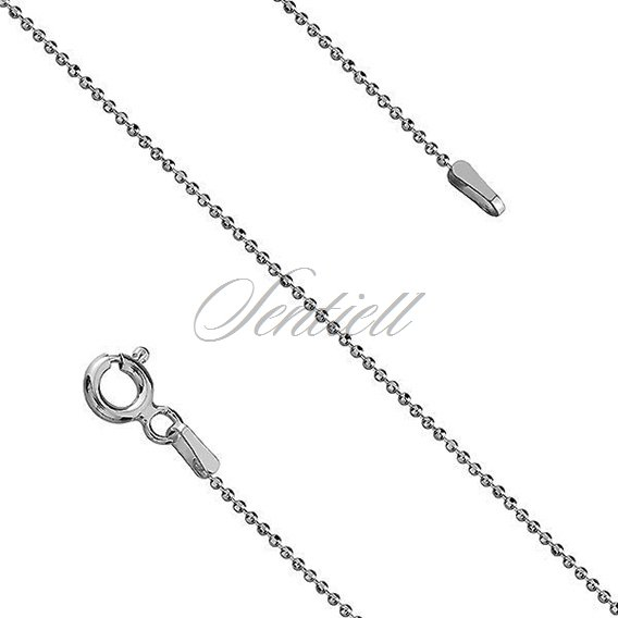 Silver (925) chain necklace 8L rhodium-plated